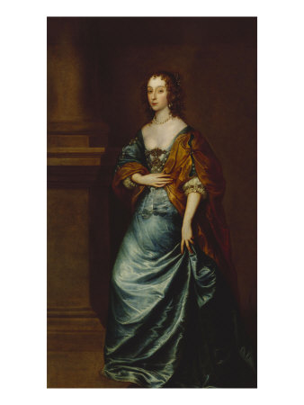 sir-van-dyck-portrait-of-mary-villiers-duchess-of-lennox-and-richmond-in-a-blue-dress-17th-century