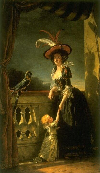 louise+elisabeth+avec+son+fils+de+deux+ans+1788