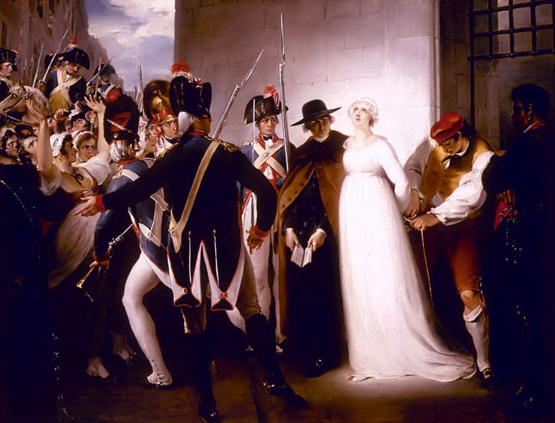 MARIE ANTOINETTE BEING TAKEN TO HER EXECUTION, 1794